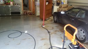 water damage in garage in Cincinnati